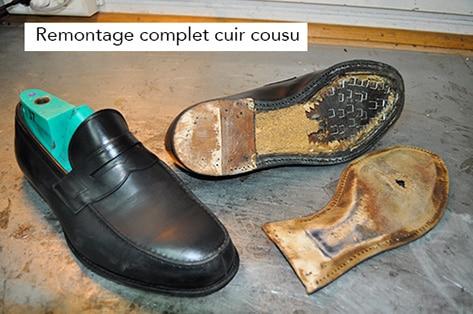 remontage cuir cordonnerie Challans